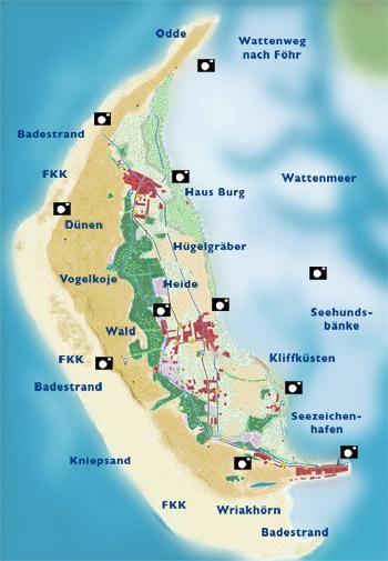 Karte Sylt Amrum.Willkommen Im Haus Pax